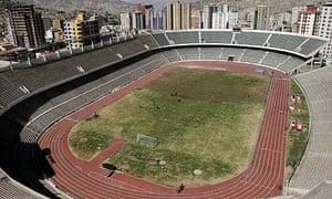 The Hernando Siles stadium, in La Paz, Bolivia