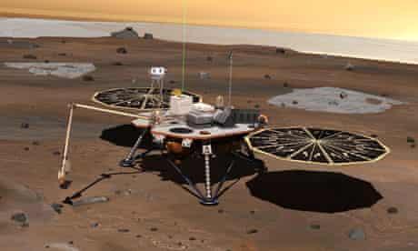 Phoenix Mars lander: robotic arm and lidar