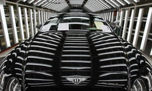 A Bentley. Manufacturing growth has been boosted by luxury car exports
