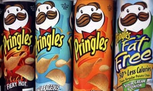 Pringles potato chips in their distinctive can. Photograph: Mark Lennihan/AP