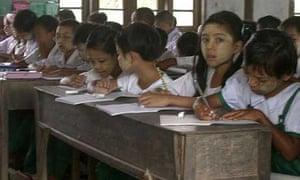Children return to school in Burma