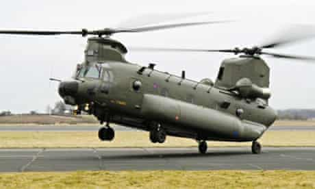 Chinook Mk 3 special forces helicopters