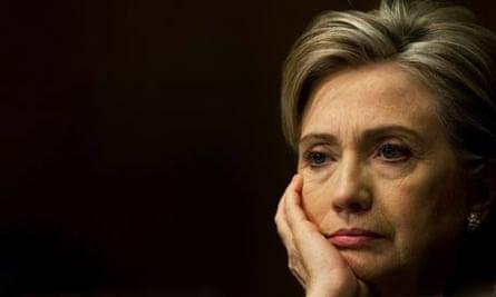 US elections: Hillary Clinton in Washington, DC