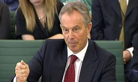 Former Prime Minister Tony Blair speaks before the International Development Select Committee in his role as Middle East envoy for the Quartet of the US, UN, EU and Russia