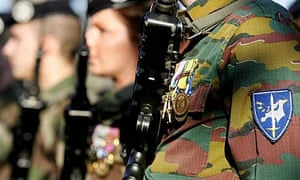 Eurocorps soldiers in France. Nicolas Sarkozy's proposal calls for a permanent operational headquarters in Brussels