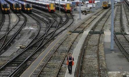 Clapham Junction railway station in London
