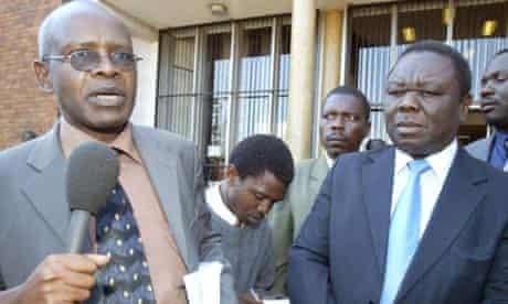 Eric Matinenga and Morgan Tsvangirai