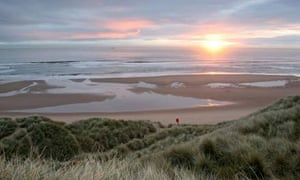 The stretch of coastline in Aberdeenshire where Donald Trump plans to build a golf course