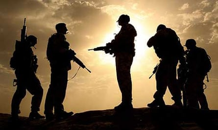 British soldiers on patrol in Helmand province, Afghanistan