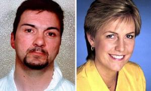 Barry George and the TV presenter Jill Dando. Composite photograph: PA/Metropolitan police/BBC