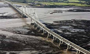 Aerial view of the Severn crossing