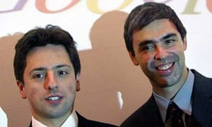 Sergey Brin, left, with fellow Google co-founder Larry Page