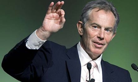The former prime minister Tony Blair