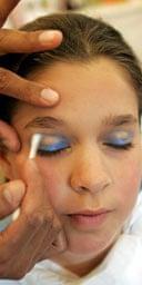 Child in make up