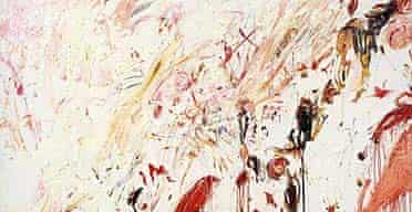 Ferragosto III, 1960, by Cy Twombly. The exhibition Cy Twombly is at Tate Modern, London SE1, from June 19 to September 14