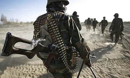 Afghan soldiers patrol a Taliban stronghold in Kandahar. Afghanistan blames Pakistan for escalating violence in the area