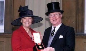 Sir Nicholas Winterton and his wife Ann
