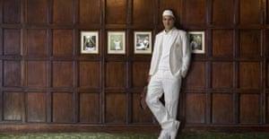 Rogere Federer in his trademark white jacket