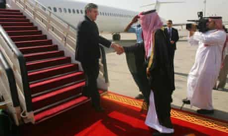 King Abdullah Bin Aziz after landing in Jeddah