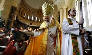 The Archbishop of Canterbury, Rowan Williams, in Tanzania