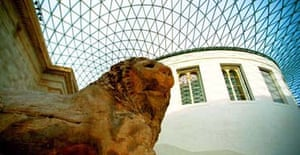 The British Museum's Great Court roof and south portico