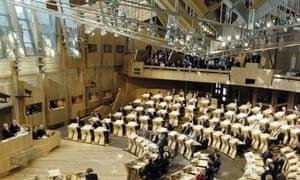 MSPs in the debating chamber at Holyrood
