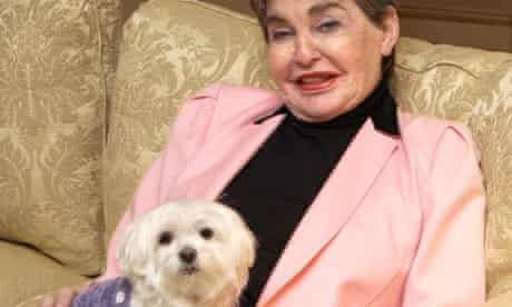 Leona Helmsley and her dog Trouble