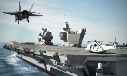 Computer generated image of an aircraft carrier