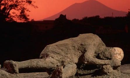 Cast of a Pompeiian's body