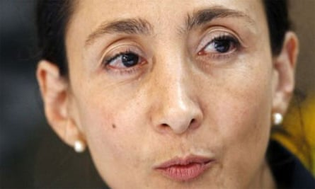 Ingrid Betancourt at a Bogota press conference after her rescue from Farc rebels