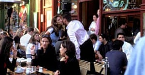 Cafe society in Hampstead London England