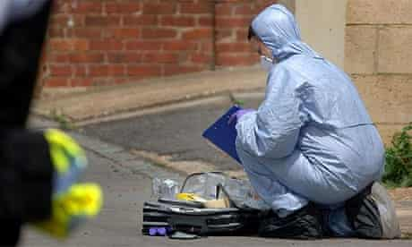 Forensic officer at stabbing scene in Thornton Heath, south London
