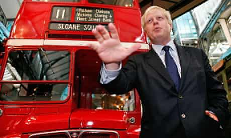 Boris Johnson announces design competition for new London Routemaster bus. Photograph: Cate Gillon/Getty Images