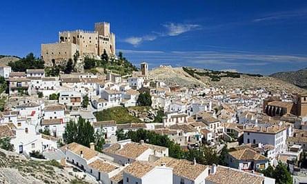 The castle and village of Velez Blanco, Almeria, Spain