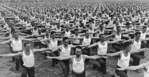 All together now ... a sokol exercise session in Prague in 1935