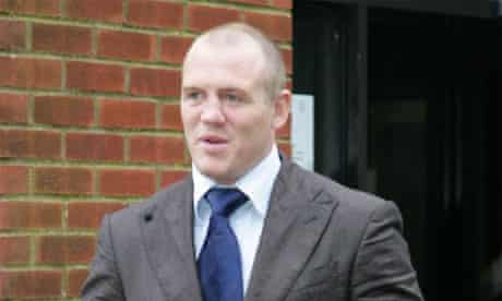 Rugby star Mike Tindall at Reading magistrates court on a drink-driving charge