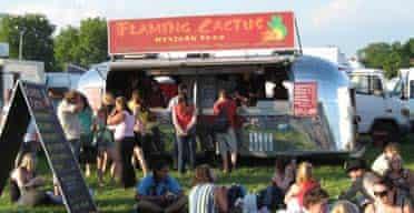 Flaming Cactus mexican food van at a festival