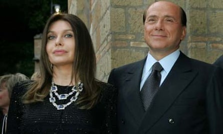Silvio Berlusconi and his wife Veronica Lario in 2004