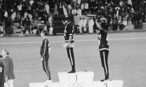 Tommie Smith and John Carlos protest with the Black Power salute