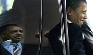 Jesse Jackson and Barack Obama