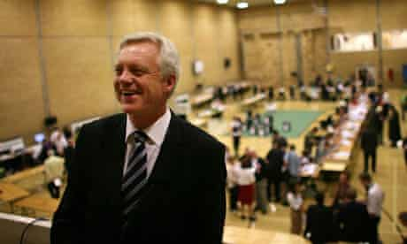 David Davis at the byelection count