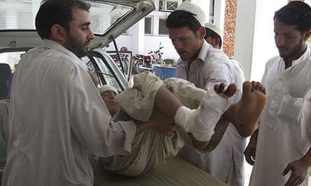 Afghan boy injured in US air strike