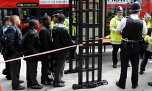 School children are put through metal detector to combat knife crime