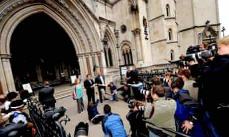 Robert Murat leaves the high court after winning damages against several british newspapers