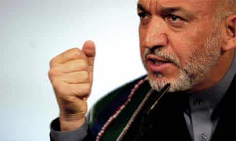 Afghan President Hamid Karzai speaks during a press conference at 10 Downing Street, London, July 19, 2005
