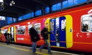 A train at Waterloo station