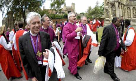 Bishops from the Anglican community attending the Lambeth Conference in Canterbury, Kent