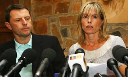 Kate and Gerry McCann at a press conference after being cleared of being formal suspects in the disappearance of their daughter Madeleine