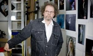 Director Mike Figgis in his studio