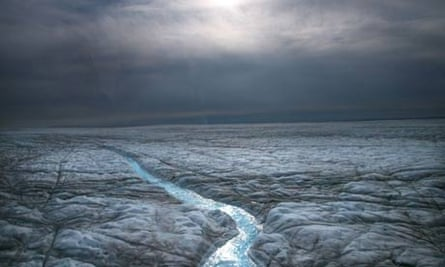 Melting ice caps in Greenland